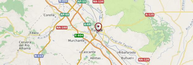 Carte Tudela - Espagne