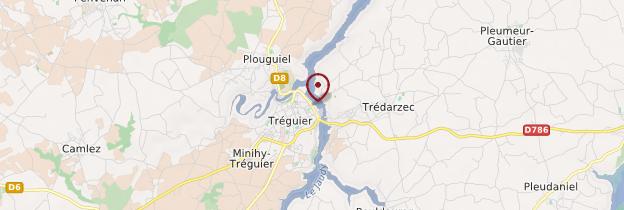Carte Tréguier (Landreger) - Bretagne