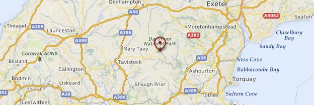 Carte Dartmoor National Park - Angleterre