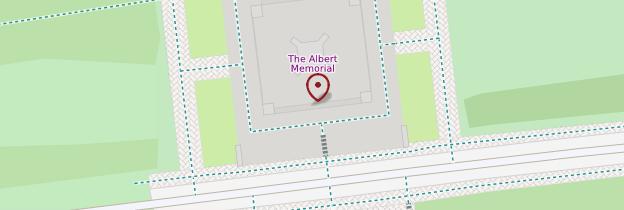 Carte Albert Memorial - Londres