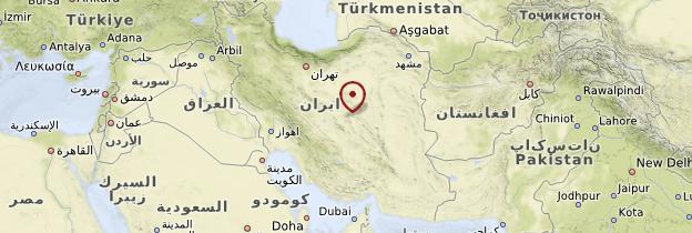 Carte Kharanaq - Iran
