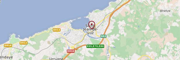 Carte Saint-Jean-de-Luz - Pays basque et Béarn