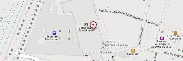 Carte Cathédrale Saint-Pierre - Montpellier