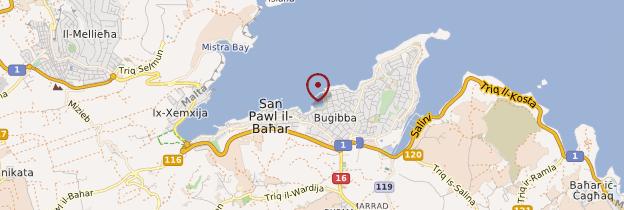 Carte Saint Paul's Bay - Malte