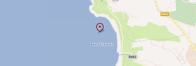 Carte Baie d'Écalgrain - Normandie