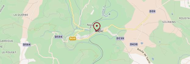 Carte Najac - Midi toulousain - Occitanie