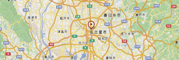 Carte Nagoya - Japon