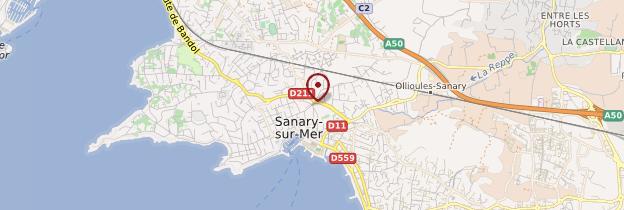 Carte Sanary-sur-Mer - Côte d'Azur