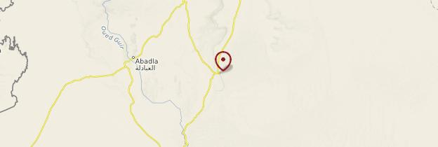 Carte Taghit - Algérie