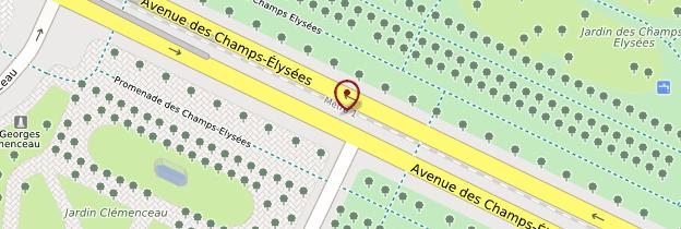 Carte Champs-Élysées - Paris