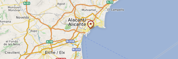 Carte Alicante - Espagne