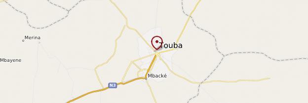 Carte Touba - Sénégal
