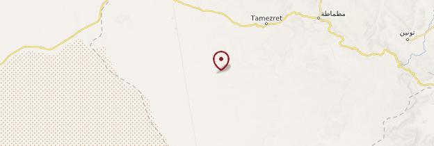 Carte Matmata - Tunisie