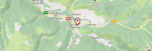 Carte Ax-les-Thermes - Midi toulousain - Occitanie