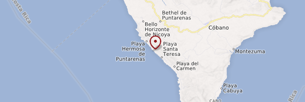 Carte Playa Santa Teresa - Costa Rica