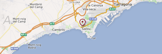 Carte Salou - Catalogne