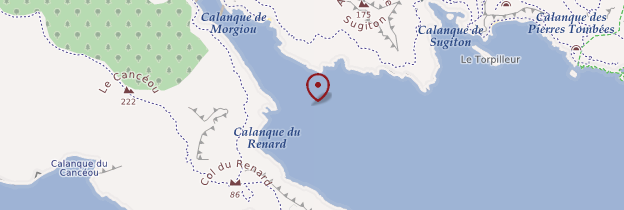 Carte Calanque de Morgiou - Marseille