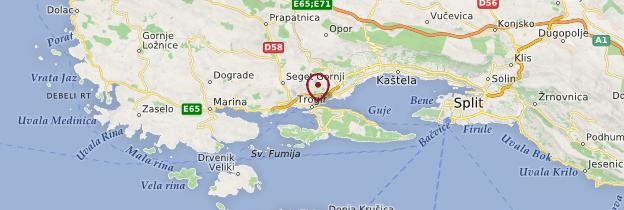 Carte Trogir - Croatie
