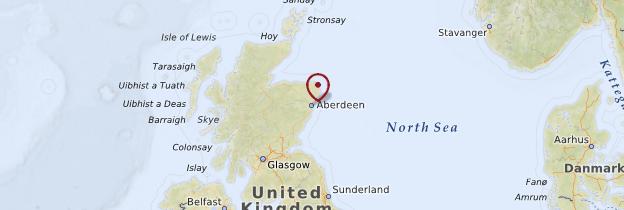 Carte Aberdeen - Écosse
