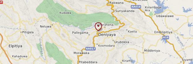 Carte Deniyaya - Sri Lanka