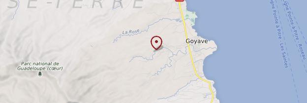 Carte Chutes de Moreau - Guadeloupe