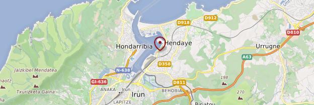 Carte Hendaye - Pays basque et Béarn