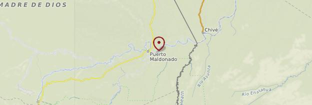 Carte Rio Madre de Dios - Pérou