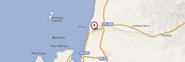Carte Pisco - Pérou
