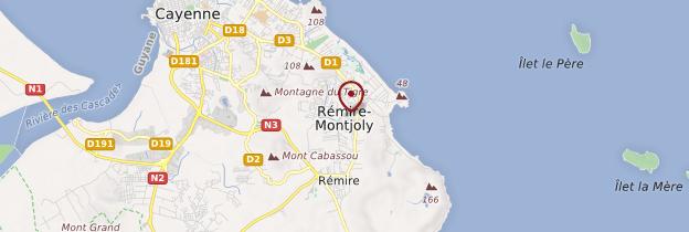 Carte Rémire-Montjoly - Guyane