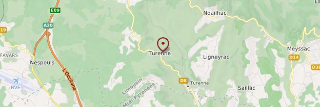 Carte Turenne - Limousin
