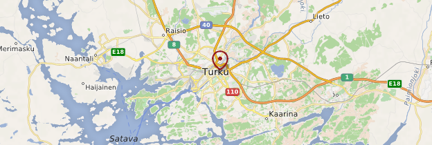 Carte Turku (Åbo) - Finlande