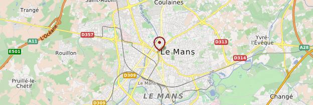 Carte Le Mans - Pays de la Loire