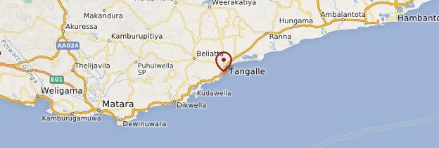 Carte Tangalle (Tangalla) - Sri Lanka