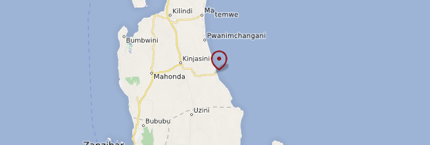 Carte Kiwengwa - Zanzibar