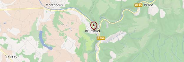 Carte Bruniquel - Midi-Pyrénées