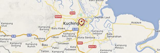 Carte Kuching - Bornéo