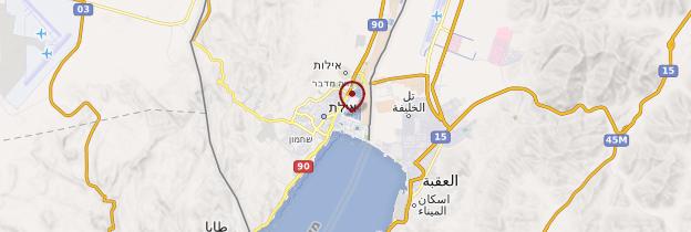 Carte Eilat - Israël, Palestine