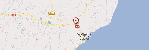 Carte Capesterre-de-Marie-Galante - Guadeloupe