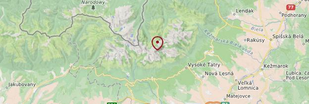 Carte Massif des Tatras - Pologne