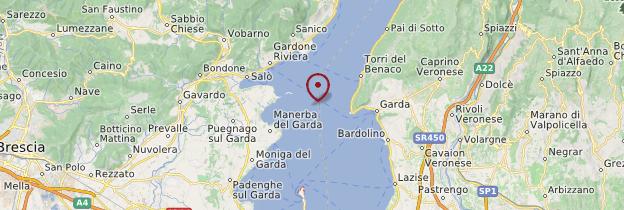 Carte Lago di Garda (lac de Garde) - Italie