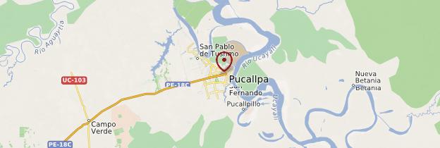 Carte Pucallpa - Pérou