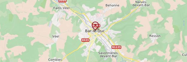 Carte Bar-le-Duc - Lorraine