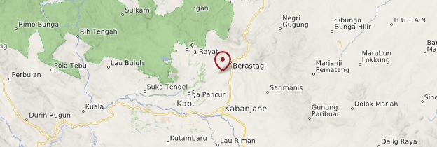 Carte Berastagi - Sumatra