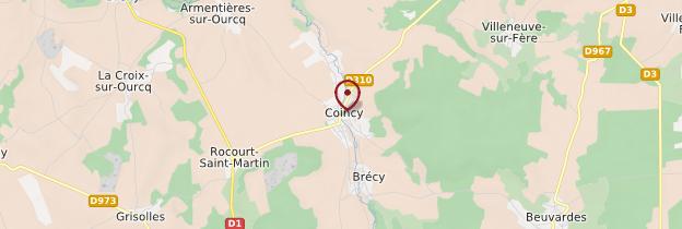 Carte Coincy - Picardie