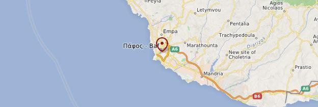 Carte Paphos - Chypre