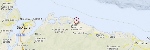 Carte Parque nacional dos Lençóis Maranhenses - Brésil