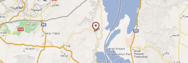 Carte Massada - Israël, Palestine