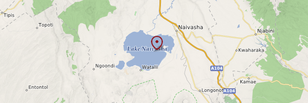 Carte Lac Naivasha - Kenya