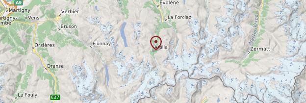 Carte Arolla - Suisse