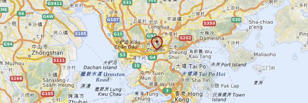 Carte Shenzhen - Chine